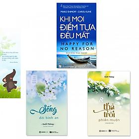 Combo 3 cuốn: Khi Mọi Điểm Tựa Đều Mất, Sống Đời Bình An, Thả Trôi Phiền Muộn (Kèm bookmark danh ngôn hình voi)