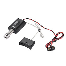 High Quality Endpin Jack Style Piezo Pickup Pick-up Preamp System with Volume Tone Control for Acoustic Guitar