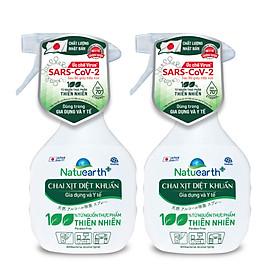 Combo 2 chai xịt diệt khuẩn Natuearth Plus 410 ml - Dùng trong gia dụng và y tế (Hiệu quả ức chế Virus SARS CoV 2 được kiểm nghiệm)