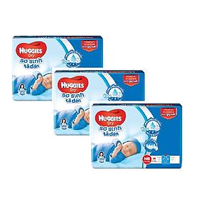 3 Gói Tã Dán Sơ Sinh Huggies Dry Newborn NB36 (36 Miếng) - Bao Bì Mới