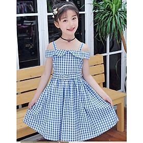 Đầm cho bé gái từ 5 đến 14 tuổi - D010