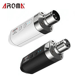 AROMA ARC1 Microphone Wireless Transmission System(Transmisster & Receiver) 4 Channels Max. 35m Effective Range XLR