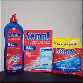 Combo muối + Bột+ nước rửa Bát - Ly Somat 1.2kg - Đức