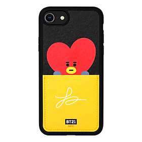 BTS BT21 Official Authentic Goods Card Pocket Bumper Case for iPhone