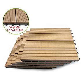 Vỉ gỗ nhựa Composite cao cấp R30cm màu Vàng- trang trí sân vườn, lót sàn nhà tắm, trang trí hồ bơi lót ban công sân vườn