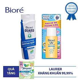 Bộ kháng khuẩn mát lạnh (1 sữa tắm 220g + 1 chống nắng 25ml) Tặng 1 Băng vệ sinh siêu mỏng Laurier 7 Miếng