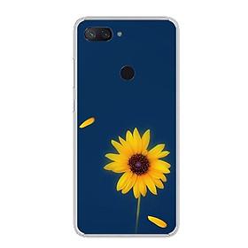 Ốp lưng cho điện thoại Xiaomi Mi 8 Lite - Silicon dẻo - 0327 SUNFLOWER06 - Hàng Chính Hãng