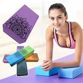 Gạch tập Yoga xốp Eva in hoa mandala 200g
