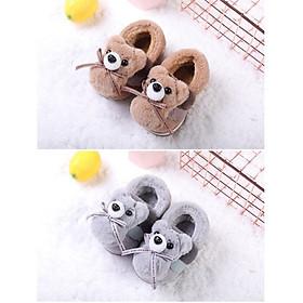 Giày bốt cho bé gái và bé trai giày giữ ấm thỏ con, gấu con  xinh xắn