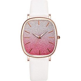 Women's pu strap double color starry sky quartz watch stylish simple casual decorative watch holiday gift