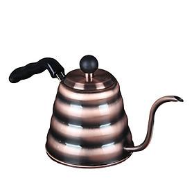 Ấm trà Inox vòi dài 1000ml PH-0261 màu đồng