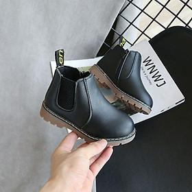 Giày bốt Quảng Châu bé trai - bé gái phong cách Anh - Giày trẻ em - Giày bốt