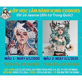 Lớp Dạy Vẽ Bánh Icing Cookies ( Cô Jeanne Đến Từ Trung Quốc )