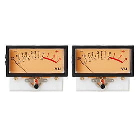 2pcs High Precision VU Meter DB Level Header Audio Meter Chassis with Backlight Input: 1000uA±5%