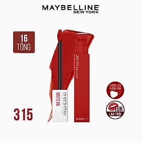 Son Kem Lì 16h Lâu Trôi Maybelline New York Super Stay Matte Ink Lipstick 5ml 315 Extraordinary Đỏ Đất