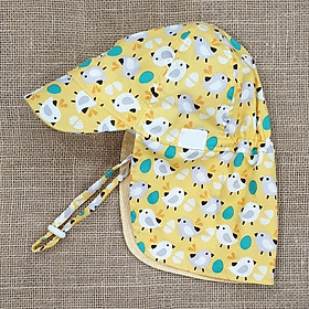 Mũ che gáy, mũ có gáy kiểu Nhật cho bé gái. Mũ chống nắng, đi biển, đi dã ngoại cho bé từ 1-12 tuổi