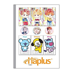 Lốc Vở kẻ ngang Haplus - Kpop (80, 120, 200 trang)