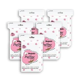 Lốc Bông Tẩy Trang Puffme Organic (90 miếng x 5)