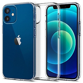 Ốp Lưng Cho iPhone 12 Pro / iPhone 12 (6.1 Inch) Silicon Trong Suốt Cao Cấp Bảo Vệ Chống Sốc Toàn Diện