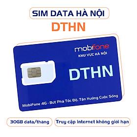 SIÊU SIM DATA DTHN (Sim Data 1 tháng - Sim 4G - Chỉ sử dụng ở HÀ NỘI) - MOBIFONE HÀ NỘI