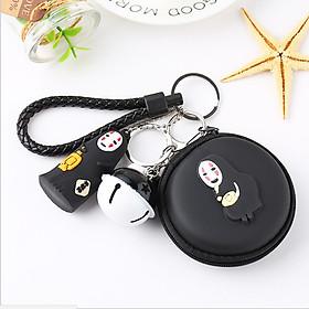 Móc khóa vô diện có chuông và bóp đựng tai nghe TZ42110 siêu dễ thương