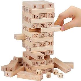 Rút gỗ số cỡ lớn + kết hợp xếp hình domino ️FREE SHIP️ 100% gỗ tự nhiên đặc chắc, con tha hồ chơi rút gỗ, xếp hình