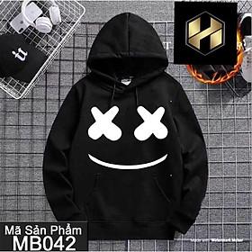 ( Best seller) Áo hoodie unisex mặt cười x có bigsize đên hơn 100kg