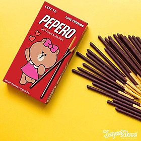 Combo 6 hộp Bánh que Lotte Pepero vị Chocolate 47gr (Phiên bản Line Friends)