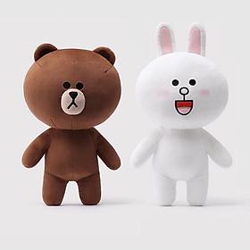 Hình đại diện sản phẩm Gấu Bông Cặp Thỏ Cony Và Gấu Brown (40 Cm) Gb12
