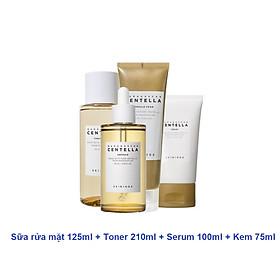 Bộ 4 Sản Phẩm Dưỡng Da Giảm Mụn, Phục Hồi Da Skin1004 Madagascar Centella (Cleansing Foam 125ml + Toner 210ml + Serum 55ml hoặc 100ml + Cream 75ml) + Tặng Kèm 1 Mặt Nạ Dr.Morita