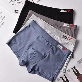 hộp 4 chiếc quần lót đùi nam boxer 100% cotton co dãn siêu đẹp