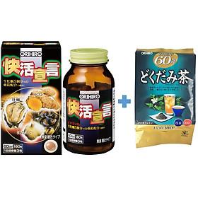 Combo Tinh chất hàu tươi tỏi nghệ Orihiro Vivacity và Trà diếp cá thải độc Dokudami Orihiro Nhật Bản