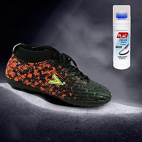 Giày bóng đá Mitre chuyên nghiệp MT170501 màu đen đỏ - Tặng bình làm sạch giày cao cấp