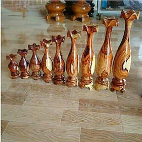 Bộ lục bình mini 9 món, gỗ cẩm (kích thước lần lượt 37cm,32cm,30cm, 27cm, 23cm, 20cm,17cm,14cm, 11cm)