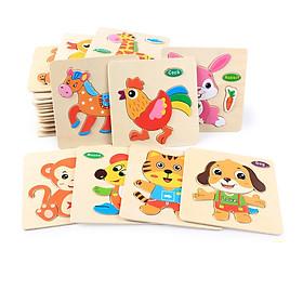 Combo 10 Miếng tranh ghép hình động vật - Tặng kèm Ebooks sách Nuôi dạy con