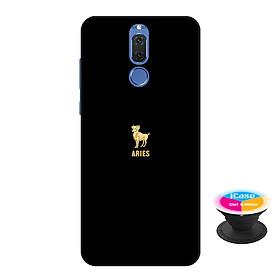 Ốp lưng nhựa dẻo dành cho Huawei Nova 2i in hình Aries - Tặng Popsocket in logo iCase - Hàng Chính Hãng