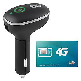 Bộ Phát Wifi 4G Cho Xe Ô Tô Huawei E8377 150Mbps + Sim Viettel 3G/4G 7GB / Tháng - Hàng chính hãng