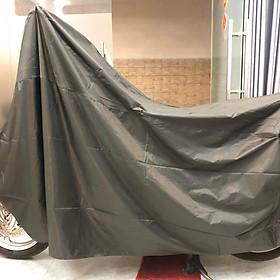 Tấm bạt dù phủ xe máy màu xanh rêu loại dày, bền tốt GD0039