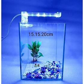 bể cá mini - bể cá mini để bàn cao20cm - BCC20c