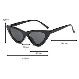 Fashion Women Classic Cat Eyes Sunglasses Outdoor Black fram Blue lens
