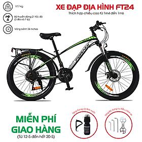 Xe đạp địa hình hiệu Fornix , FT24, vòng bánh 24'', màu Đỏ Trắng