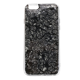 Protector Cover Mobile Phone Case Lovely Conch Shell TPU Dust-Proof Anti-Fingerprint For iPhone6/6S - Black