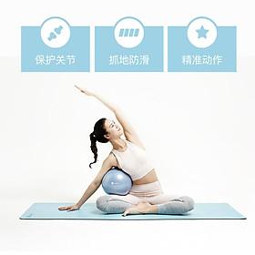 Keep yoga mat fitness mat double odorless environmentally friendly non-slip yoga beginner 5mm black-4