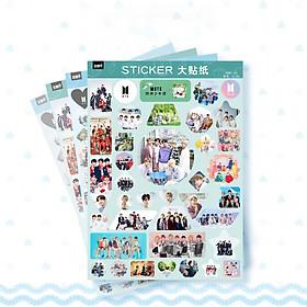 Set 4 tấm dán Sticker BTS