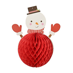 Christmas Ornament Hanging Decoration with Snowman Figure Hanging Loop Christmas Decor Supply for Home Office Hotel 1PCS