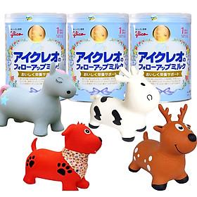 Combo 3 hộp Sữa Glico Icreo Follow Up Milk Số 1 (820g) tặng thú nhún Toys House
