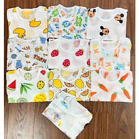 Combo 5 BỘ cộc tay  quần đùi giấy loại đẹp cho bé 10-15kg