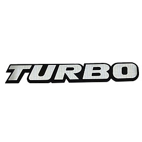 Tem decal chữ nổi kim loại Turbo 03