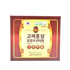 Viên sâm nhung linh chi đông trùng hạ thảo 60 viên Daedong Korea Ginseng (phiên bản nhỏ hơn)