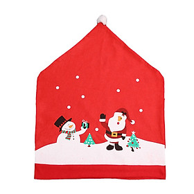 Christmas Chair Covers Santa Chair Back Covers Xams Chair Covers  for Christmas Festive Home Dinner Table Chairs